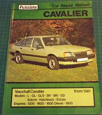 Autodata Auto Reparación/Manual de taller Opel Cavalier Gasolina/Diesel 1981 en adelante