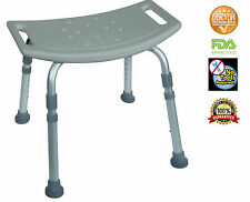 Bath Bench with out Back Adjustable Legs Height, Lightweight Shower Bench Gray
