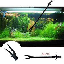 Aquarium Fish Tank Tweezers Cleaning Clamp Plant Pruning Tong Pliers Clip Tools