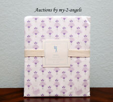 NEW Pottery Barn Kids KEIRA Swan Crown Floral Twin Sheet Set LAVENDER *SOLD OUT!