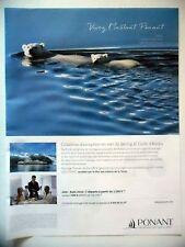 PUBLICITE-ADVERTISING :  PONANT Mer de Béring Golfe d'Alaska  2016 Yachting,Ours