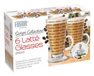 6 Pack Printed Latte Mugs Compatible with Tassimo Machine 240 Ml Tassimo Gusto