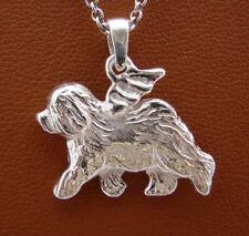 Sterling Silver Old English Sheepdog Angel Pendant