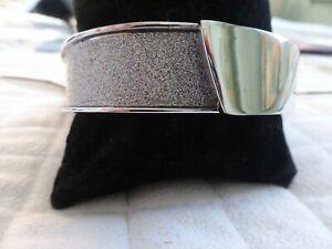 Next Silver effect hinged plain/sparkle bangle BNWT RRP £10