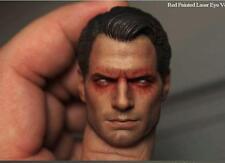 Custom Henry Cavill Red Eyes 1/6 Head Sculpt for Hot Toys Superman 2.0 Body