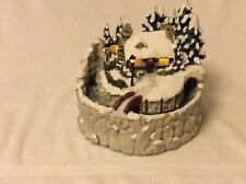 Thomas Kinkade Stonehearth Hutch Light Waterfall Sculpture
