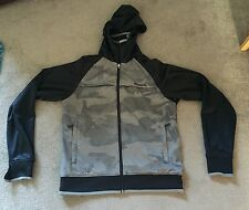 Boy's Bench Hooded Jacket Top Size Large Black Grey Used !