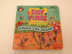 Good Condition Easy Pieces Under The Ocean 4 in 1 Puzzles Board Book