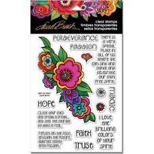 Stampendous Laurel Burch Clear STAMPS - Floral Reflections
