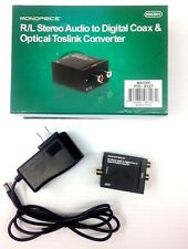 R/L Stereo Audio to Digital Coax & Optical Toslink Converter