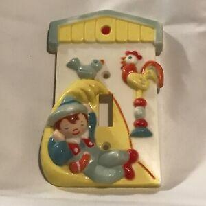 Little Boy Blue Light Switch Cover Vintage