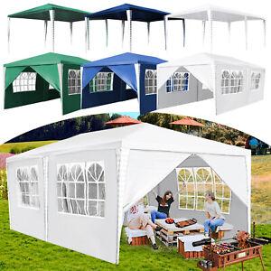 3x4m Festzelt komplett verschließbar Pavillon Partyzelt PE Wasserdicht