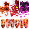 Nail Glitter Flakes Fall Maple Holographic Leaves Sequins Decorations Nails Tips