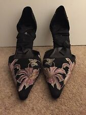 Karen Millen beautiful embroidered shoes size 38 (UK 5)