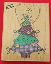 BUTTONS-N-BOWS TREE 1998 PENNY BLACK UNUSED RUBBER STAMP