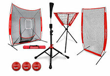 PowerNet DLX All-In-One Hitting Net Bundle w/Tee, Ball Caddy, I-Screen Baseball