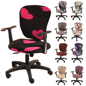 Computer Swivel Chair Cover Spandex Stretch Office Home Seat Protector Covers