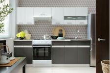 Complete Kitchen Set 7 Cabinets Cupboards Units White Wolfram Grey