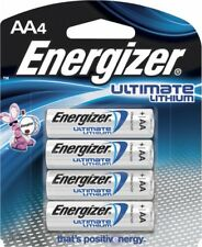 4 AA Energizer Ultimate Lithium Batteries 20 Years Shelf Life-1.5v New-Sealed