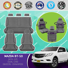 MAZDA BT-50 08/2015- CURRENT CANVAS WATERPROOF TAILOR MADE CAR SEAT COVERS