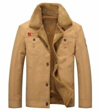 Mens Bomber Wool Lined Military Vintage Air Force Army Warm Winter Jacket #ES