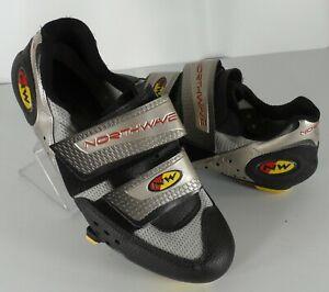 Mens Northwave Sport Cycling MTB Mountain Silver Biking Shoes Size 7 US 39 EU