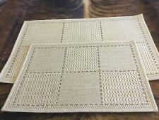 2 X Oriental Weavers Checked Flatweave Anti Slip door Mat 1x60x40cm  & 1x80x50cm