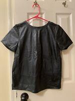 Women's Ann Taylor Loft Petites Black Short Sleeve Top Size XSP