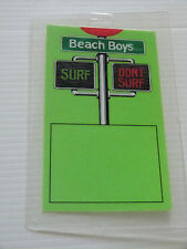 THE BEACH BOYS Laminated Backstage Tour Pass - SURF / DON'T SURF