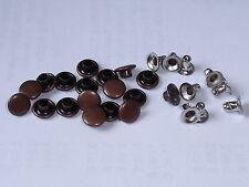 100 Hohlnieten Ziernieten  7x3x5 Kupfer-Antik rostfrei