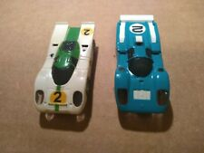 2 LIGHTED AURORA AFX MAGNA-TRACTION SLOT CARS