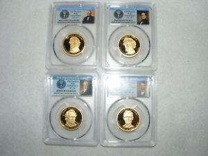 4 COIN PCGS PR69DCAM 2010-S PRESIDENTIAL SERIES DOLLAR SET