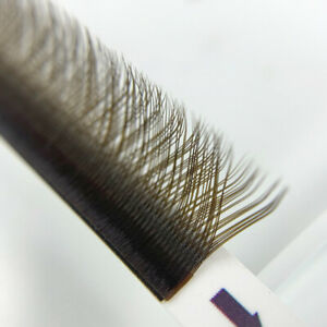 Brown Y Shaped Eyelash Extensions Auto Fan Easy Volume Effect