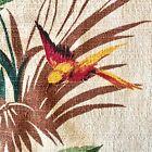Parrot Barkcloth Curtain Drapes Panel Vintage Colorful 1950's 43' x 66'