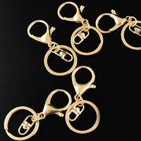 Lots Keyring Lobster Clasp Clips Short Key Chain Rings Split Ring Gold Supply
