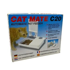 Pet Mate Cat Mate C20 Automatic double feeding feeder food bowl 48 hour timer