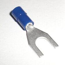 20 Horquilla Terminales de Cable M-6 Azul Para 1,5 -2 , 5mm ² Cable _ M6
