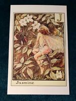 CICELY MARY BARKER FLOWER FAIRIES POSTCARD, THE JASMINE FAIRY, FAIRY ALPHABET