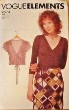 Miss Vogue Pattern 9674 Elements WRAP TOP UNCUT Size 6-8-10-12-14-16-18-20-22