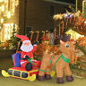 Inflatable Santa Claus with Sled and Reindeer Indoor/Outdoor Xmas Décor LED