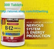 300 Tab B-12 5000 mcg Support Nervous System,Brain Function Kirkland Exp. 2020