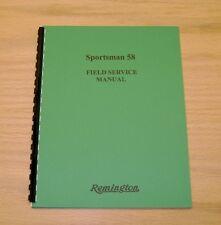 Remington Sportsman 58 Field Service / Repair Manual - 42 Page Version - #59