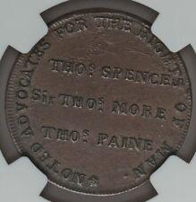 1794 Thomas Paine Conder Spence Token CHOICE UNC High Treason