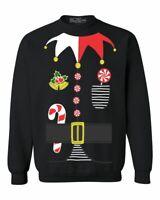 Elf Costume Crewnecks Santa's Helper Holiday Christmas Sweatshirt
