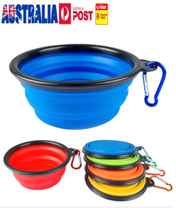 Travel Portable Collapsible Pet Dog Bowls Food & Water Bowl Dish Feeder Foldable