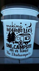 Vinyl Decal - Making Memories One Campsite At A Time (May Customize w/ Name)