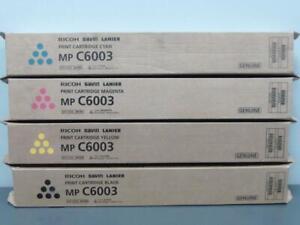 New Genuine RICOH SAVIN LANIER MP C6003 Print Cartridge Set