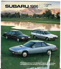 Subaru 1986 Front Wheel Drive 4-Wheel Drive Vehicles Brochure VG 011116jhe