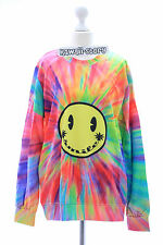 TY-G129 Smiley Hippies Gothic Rainbow Sweatshirt Pullover Japan Harajuku Trend