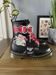 Dr Martens 1460 Hello Kitty & Friends black leather boots 3 36 BNIB Sanriotown